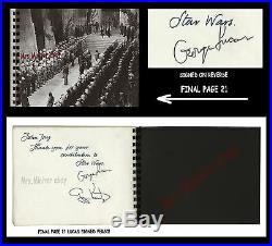 1976 George Lucas PERSONALLY OWNED and LEGIBLY HAND-SIGNED STAR WARS GLORY BOOK
