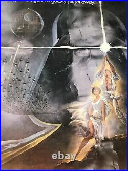 1977 ORIGINAL Authentic Star Wars Movie Poster, Type A, 27x41, nice
