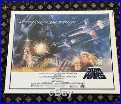 1977 Original Star Wars Style A Half Sheet 22x28 Poster
