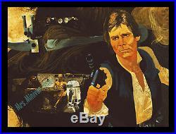 1977 STAR WARS BURGER CHEF COCA-COLA Translite MOVIE POSTER DISPLAY! RARE