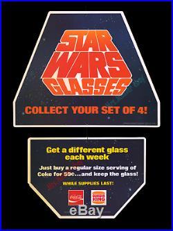 1977 STAR WARS Coca-Cola BURGER KING STORE DISPLAY MOVIE POSTER GLASSES MOBILE