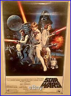 1977 Star Wars Original Movie Poster PTW531 LITHO AUTHENTIC! 27x41