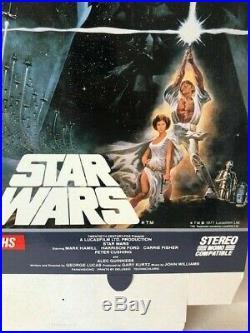 1977 Star Wars Oversized Store Display VHS BETA BOX WithHANGER MOVIE POSTER OG