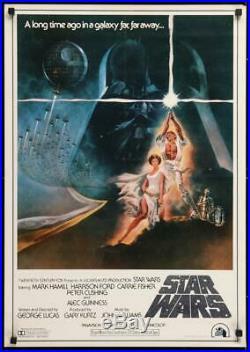 1978 Original Release Japanese B2 Poster Star Wars Rare English Version Tom Jung