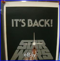 1981 Star Wars Re-release Original Insert Movie Poster 14 x 36 Rolled NM RARE