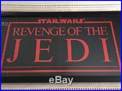 1982 Star Wars Episode VI Revenge of the Jedi original Lucas poster, framed
