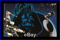 1983 ATARI Star Wars STORE DISPLAY MOVIE POSTER ORIGINAL RARE TOP EARLY GAMING
