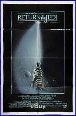 1983 Return of the Jedi 1-Sheet (27 x 41) Original Movie Poster Star Wars