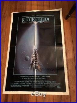 1983 Star Wars Return Of The Jedi 1sh Original Movie Poster Style A Light Saber