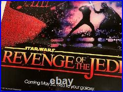 1983 Star Wars Revenge Of The Jedi Recalled Original Authentic Poster Folded