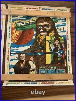 2 Vintage Star Wars 1977 1978 Craft Master Poster Art-May The Force Be With You