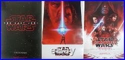3x ORIGINAL Star Wars The Last Jedi Teaser FINAL 27x40 DS POSTER 2 sided SET