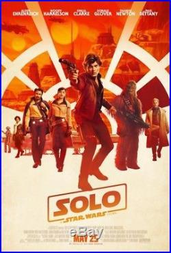 6 Solo A Star Wars Story original DS movie poster set FINAL Teaser + Bonus