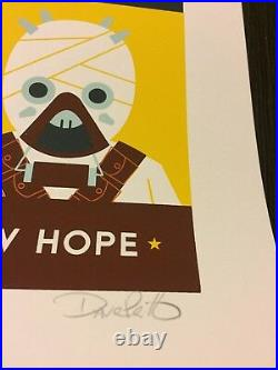 A New Hope Star Wars Episode IV Print 2013 Dave Perillo MINT Poster