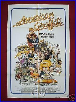 American Graffiti 1973 Original Movie Poster 1sh Star Wars George Lucas Nm-m
