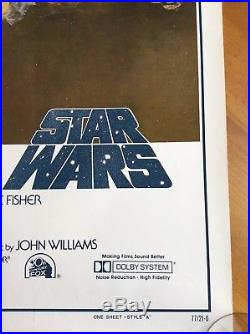 Authentic original star wars 1977 movie poster 77/21-0. Rolled. No PG box