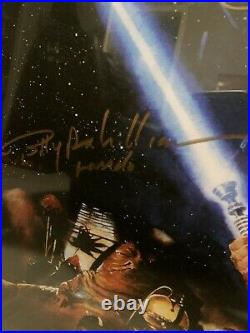 Autographed 11 Signed Star Wars Return of the Jedi Poster withCOA Lucas, Ford