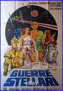 Big Original Vintage Movie Poster 2F 100x140 Star Wars Guerre Stellari 1977