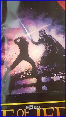C9 MINT! ORIGINAL REVENGE OF THE JEDI Star Wars 1982 Lucas Movie Poster 27x41