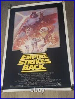 C9 Rolled! Original Star Wars Empire Strikes Back 1981 27x41 Movie Poster Lucas