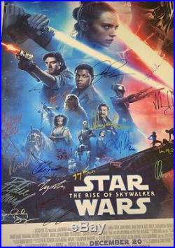 Cast Signed Star Wars Rise Of Skywalker Premiere Vip Movie Poster Jedi Daisy Star Wars Poster Original