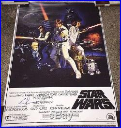DIRECTOR GEORGE LUCAS SIGNED STAR WARS A NEW HOPE F/S FULL SIZE POSTER withCOA