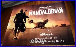 Disney + Disney Plus STAR WARS THE MANDALORIAN 5FT SUBWAY POSTER 2019