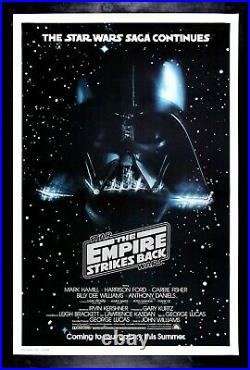 EMPIRE STRIKES BACK 1980 CineMasterpieces MOVIE POSTER DARTH VADER STAR WARS