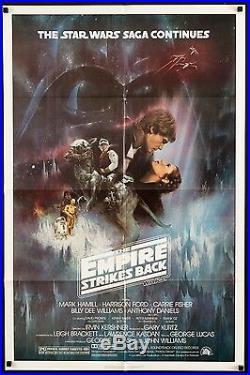 EMPIRE STRIKES BACK 1980 Style A U. S. 1sh Exc. Cond ESB Star Wars filmartgallery