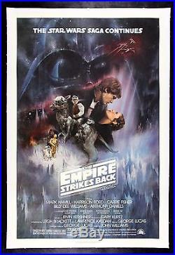 EMPIRE STRIKES BACK CineMasterpieces 1980 GWTW ORIGINAL MOVIE POSTER STAR WARS