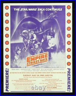 EMPIRE STRIKES BACK CineMasterpieces 1980 STAR WARS PREVIEW SCREENING HERALD