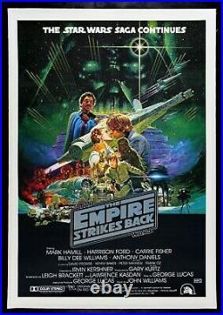 EMPIRE STRIKES BACK CineMasterpieces ORIGINAL AUS MOVIE POSTER STAR WARS 1980