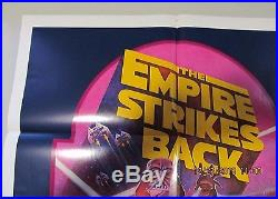 EMPIRE STRIKES BACK R-82 ORIGINAL 27x41 MINT FOLDED MOVIE POSTER STAR WARS