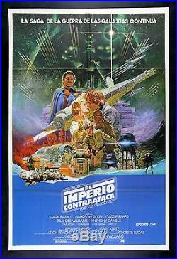 EMPIRE STRIKES BACK STAR WARS CineMasterpieces 1SH SPANISH MOVIE POSTER 1980