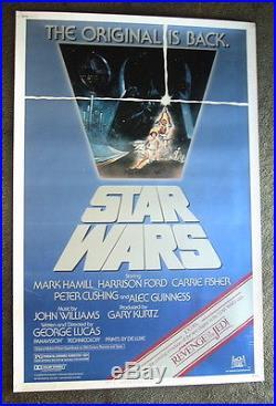 ERROR Star Wars episode 4 ORIGINAL promotional Movie poster with Revenge of Jedi