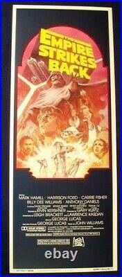 Empire Strikes Back 14x36 Rare R-82 Unused Star Wars Movie Poster Insert