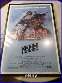 Empire Strikes Back 1980 Original Movie Poster Star Wars
