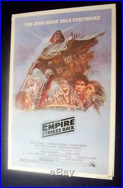 Empire Strikes Back B Rolled Original 27x41 Mint Movie Poster 1980 Star Wars