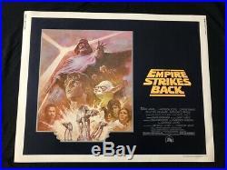 Empire Strikes Back Original Half Sheet Poster Star Wars