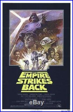 Empire Strikes Back R-81 Original Rolled 27x41 Movie Poster Star Wars