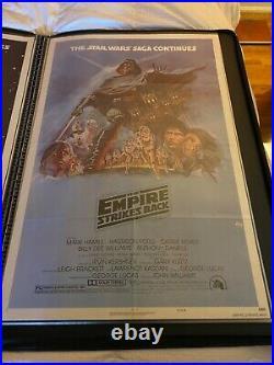 Empire Strikes Back Style B Original 27x41 Unused Movie Poster Star Wars 1980