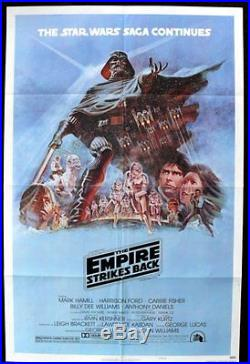 Empire Strikes Back Style B Original Folded 27x41 Mint Movie Poster Star Wars