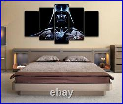 Framed Star Wars Darth Vader Sith Poster 5 Piece Canvas Print Wall Art Decor