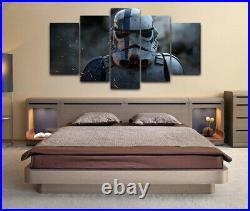 Framed Star Wars Stormtrooper Movie Poster 5 Piece Canvas Print Wall Art Decor