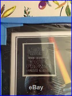 Framed Star Wars Tribute Poster Including OrIginal Signed Photo of Darth Vader