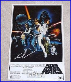 GEORGE LUCAS SIGNED STAR WARS A NEW HOPE 12X18 MOVIE POSTER PHOTO withCOA PROOF