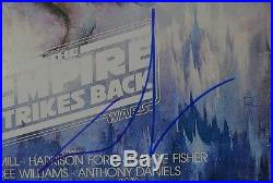 George Lucas Signed 12x18 Poster w JSA COA #R76434 Star Wars Empire Strikes Back