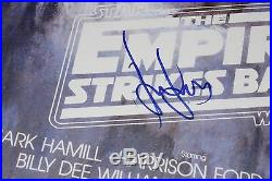 HARRISON FORD SIGNED STAR WARS THE EMPIRE STRIKES BACK F/S POSTER WithCOA HAN SOLO