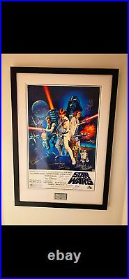 Harrison Ford Mark Hamill Carrie Fisher signed Star Wars Movie Poster BECKETT