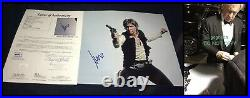 Harrison Ford signed 11x14 photo proof Star Wars poster JSA Han Solo Skywalker